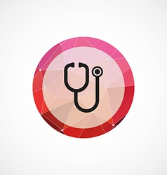 medical symbol circle pink triangle background vector image vector image