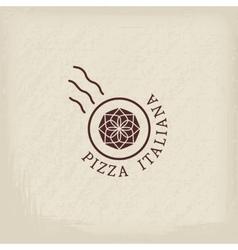 Pizzeria logo template vector