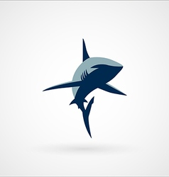 Shark logo sign two colors vector