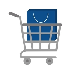 Shopping cart online bag gift vector