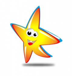 star mascot vector image