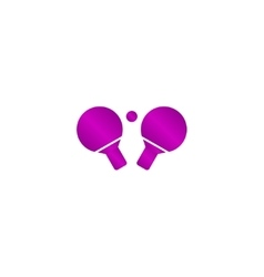 Table tennis icon vector image vector image