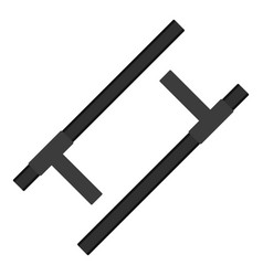 Tonfa traditional asian weapon icon isolated vector