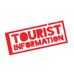tourist information rubber stamp vector image