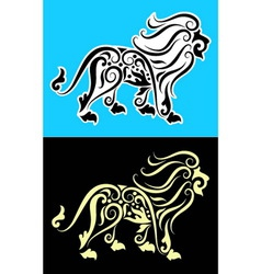 Lion cutting sticker vector