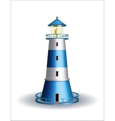 Blue lighthouse isolated on white vector