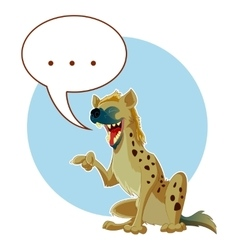 Cartoon hyena and a word bubble vector
