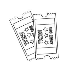 Tickets admit one icon image vector