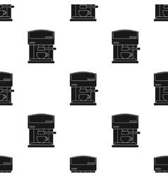 Coffeemaker icon in black style isolated on white vector