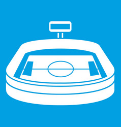 Stadium icon white vector