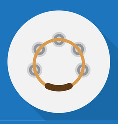 Of song symbol on tambourine vector