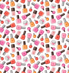 Nail polish pattern vector image