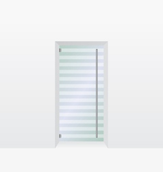 Glass door vector