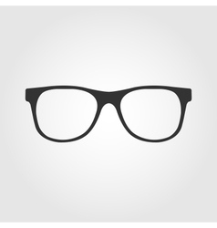 Glasses icon flat design vector