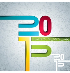 Happy New Year 2015 colorful background vector image