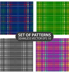Set of 4 abstract seamless patterns vector
