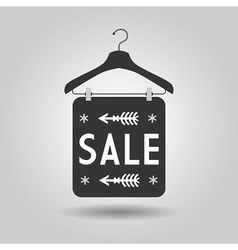 Clothing hanger sale signage and banner icon vector