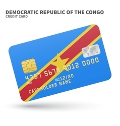 Credit card with democratic republic of the congo vector