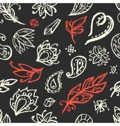 Boho style elements seamless pattern vector image