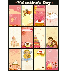 Love Card Vertical Set vector image