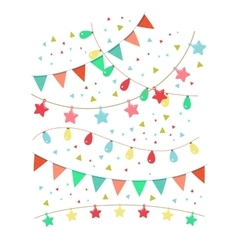 Colorful birthday and party decoration vector