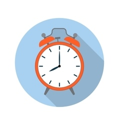 Picture of red alarm clock vector