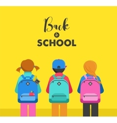 Student bag backpack colorful set of icons vector image