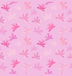 abstract natural leaves seamless pattern vector image