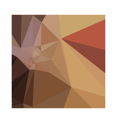 Antique brass brown abstract low polygon vector