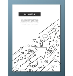 Business success - line design brochure poster vector