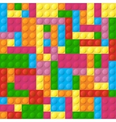 Colored plastic bricks seamless pattern vector