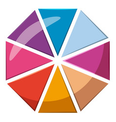 Colorful circle divided into eight parts icon vector