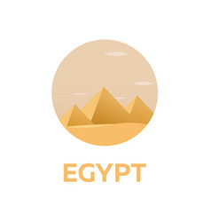 egypt tourism travelling modern vector image vector image