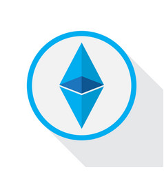 Ethereum crypto currency vector