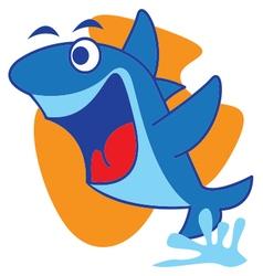 Fly shark vector