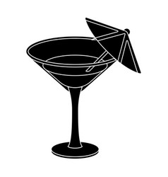 glass with a cocktailparty and parties single vector image