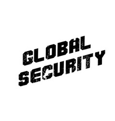 global security rubber stamp vector image vector image