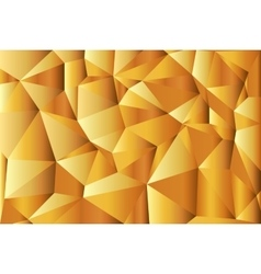Gold-abstract polygonal background triangles vector