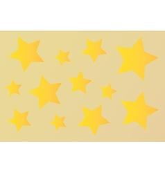 Gold stars vector