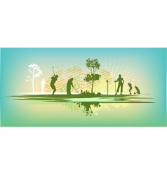 green blot golf club Silhouettes vector image vector image