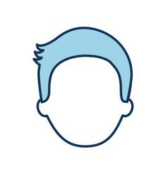 man avatar face male profile image vector image