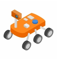 Moonwalker isometric 3d icon vector