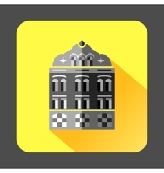 Mosque building icon in flat style vector image