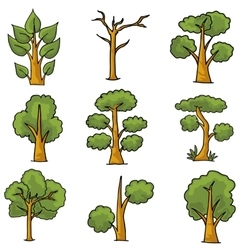 Ornament tree nature in doodles vector image