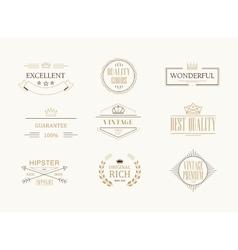 Premium quality labels set vector image vector image
