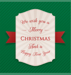 realistic decorative merry christmas banner vector image