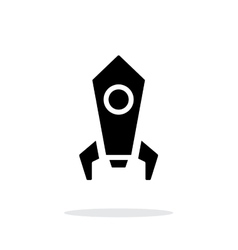 Rocket simple icon on white background vector