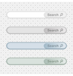 Set of color search bars vector
