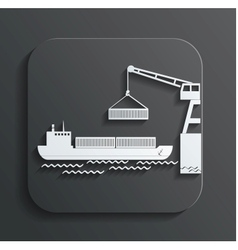 Shipment icon vector