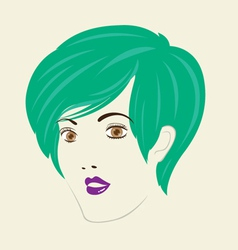 Short straight hair woman hair style vector
